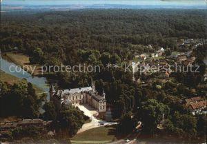 Ermenonville Fliegeraufnahme mit Chateau Kat. Ermenonville