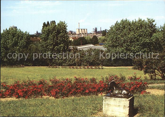 Eisenhuettenstadt Blick vom Rosenhuegel auf die Stadt Kat. Eisenhuettenstadt