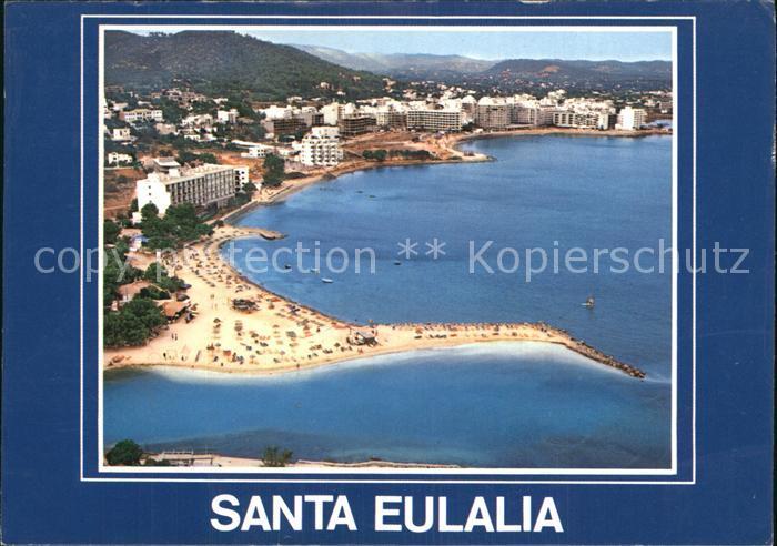Santa Eulalia del Rio Desembocadura Rio Balear vista aerea Kat. Ibiza Islas Baleares