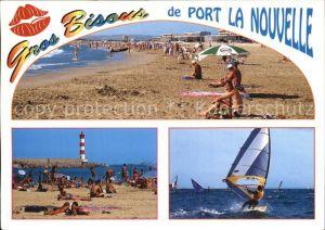 Port la Nouvelle Strand Leuchtturm Windsurfen Kat. Port la Nouvelle
