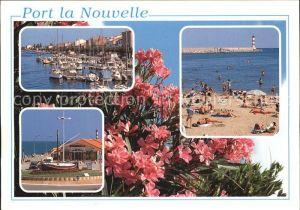 Port la Nouvelle Yachthafen Strand Restaurant Blumen Leuchtturm Kat. Port la Nouvelle