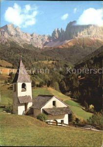 Tiers Dolomiten St. Zyprian mit Rosengarten Kat. Italien