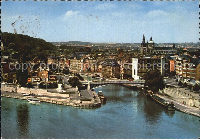 Namur sur Meuse Fliegeraufnahme Meuse