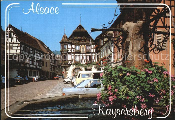 Kaysersberg Haut Rhin Maison ancienne a pans de bois et oriel Altes Haus 16. Jhdt. Fachwerkhaeuser Brunnen Kat. Kaysersberg