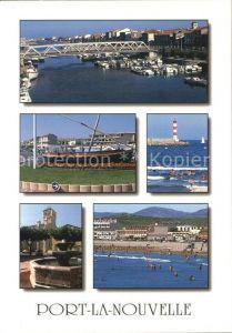 Port la Nouvelle Bruecke Hafen Leuchtturm Brunnen Strand Kat. Port la Nouvelle