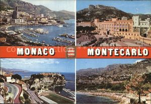 Monte Carlo Palais Princier Vue du Port Le Rocher des Grimaldi Le Beach Kat. Monte Carlo