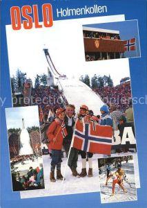 Oslo Norwegen Holmenkollen Skischanze Festival Kat. Oslo