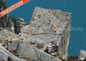 Lysefjord Stavanger Prekestolen Fliegeraufnahme