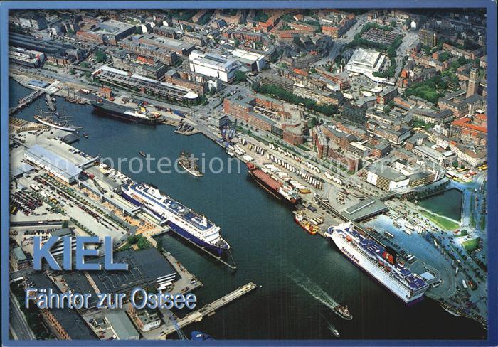 Kiel Luftaufnahme City Schwedenkai Norwegenkai Kat. Kiel