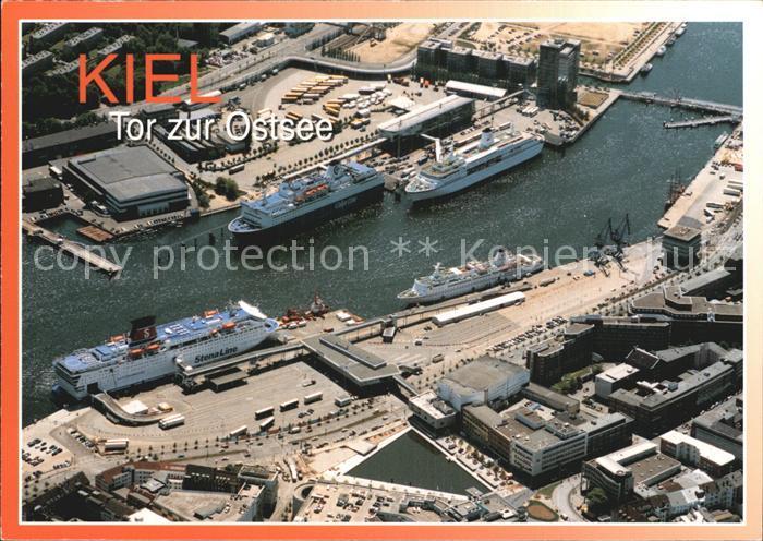 Kiel Luftaufnahme Hafen Faehrschiffe Kat. Kiel