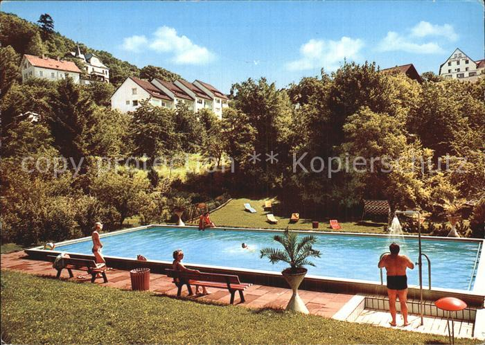 Lindenfels Odenwald Haus Karina Schwimmbad Kat. Lindenfels