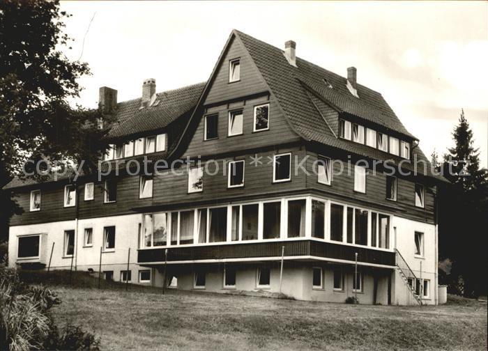 Hahnenklee Bockswiese Harz Evangelisches Muettergenesungsheim Haus Tannenhof Kat. Goslar