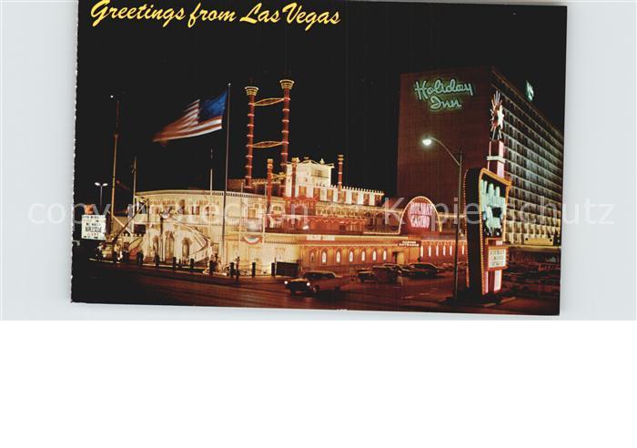 Las Vegas Nevada Holiday Inn on the Strip night view Kat. Las Vegas