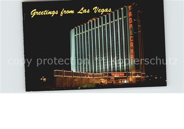 Las Vegas Nevada Tropical Hotel and Country Club on the Strip night view Kat. Las Vegas