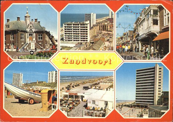 Zandvoort Holland Teilansichten Strand Promenade Hotels