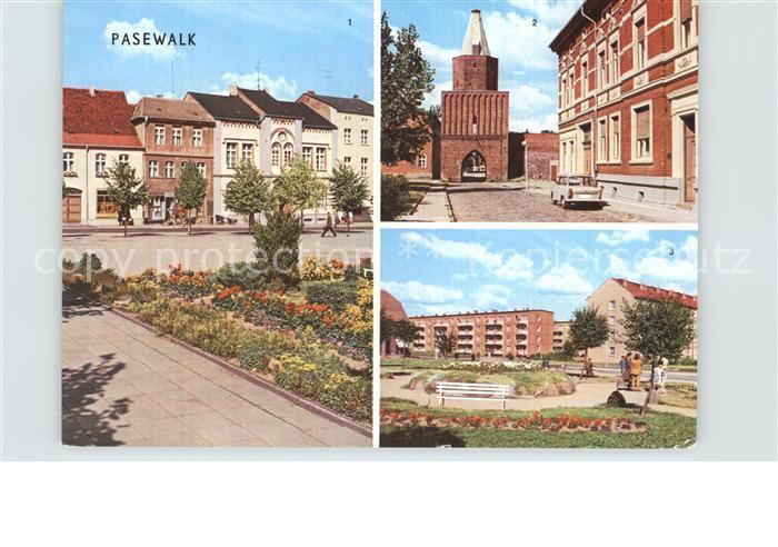 Pasewalk Mecklenburg Vorpommern Thaelmann Platz Muehlentor Platz der Aufbauhelfer Kat. Pasewalk
