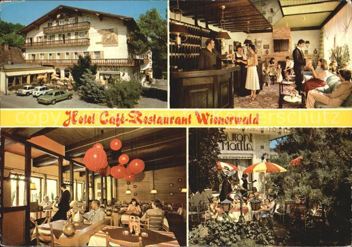 Eichgraben Hotel Restaurant Wienerwald Rezeption Gastraum Gartenterrasse Kat. Eichgraben