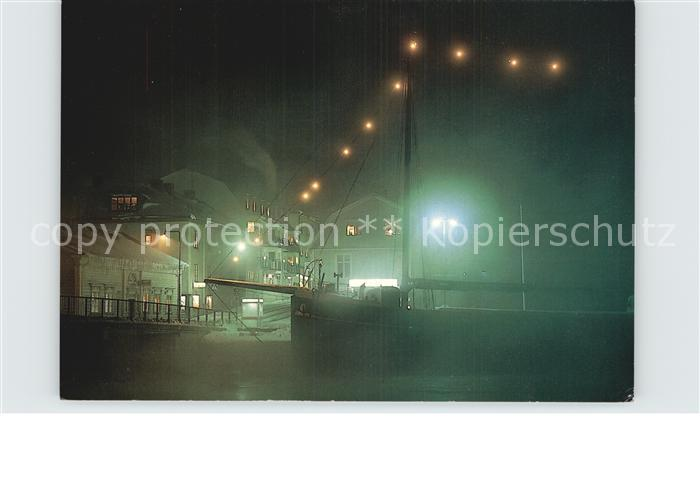 Askersund Harbour on a cold night Kat. Schweden