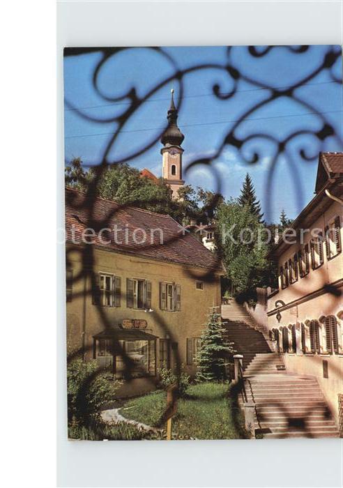 Starnberg Treppe zur St Josefs Kirche Kat. Starnberg
