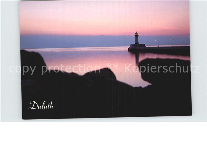 Duluth Minnesota Coast Lighthouse at dusk Kat. Duluth