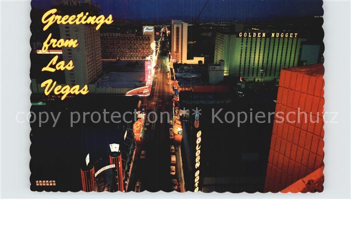 Las Vegas Nevada Night lights of Fremont Street Kat. Las Vegas