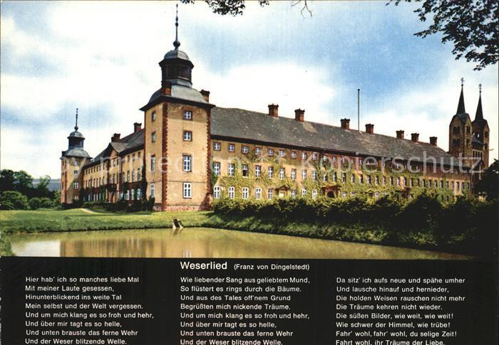 Hoexter Weser Schloss ehemalige Reichsabtei Weserlied Kat. Hoexter