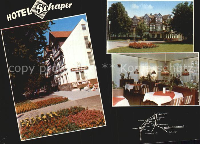 Allendorf Bad Sooden Hotel Schaper Kat. Bad Soden am Taunus