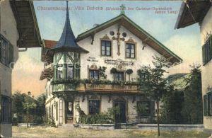 Oberammergau Villa Daheim Anton Lang Wohnhaus Kat. Oberammergau