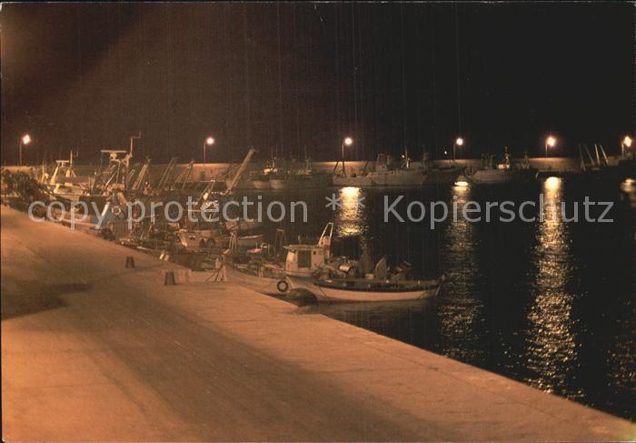 Giulianova Lungomare Strandpromenade Nachtaufnahme Kat. Italien