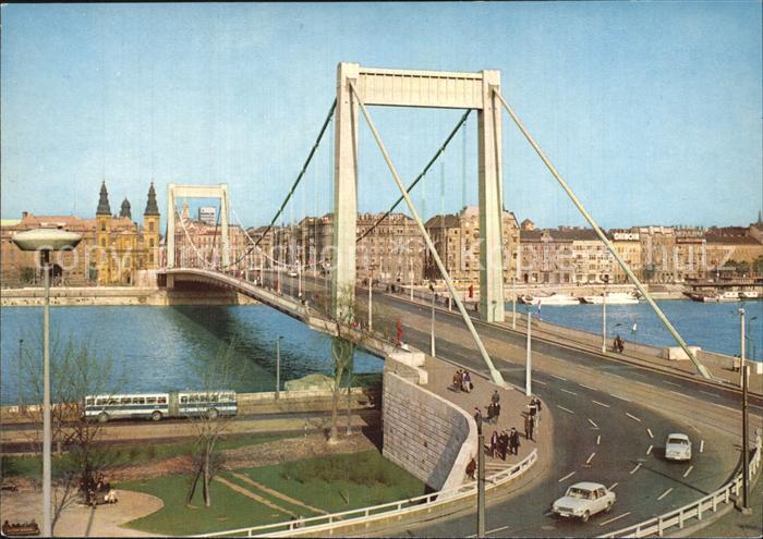 Budapest Erzsebet hid Elisabethbruecke Kat. Budapest