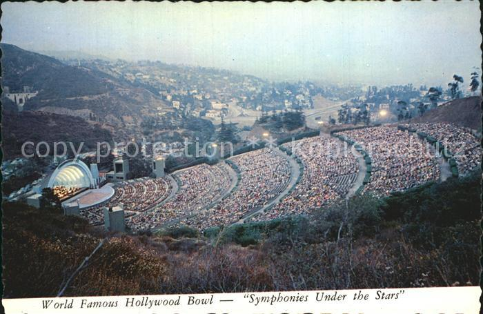 Hollywood California Hollywood Bowl Symphonies Under the Stare Kat. Los Angeles United States