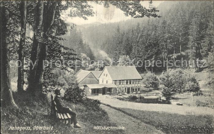 Hohegeiss Harz Wolfsbachmuehle Kat. Braunlage