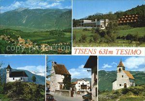 Tisens Merano Suedtirol Panorama Hotel Kirche Ortspartie Kat. Merano