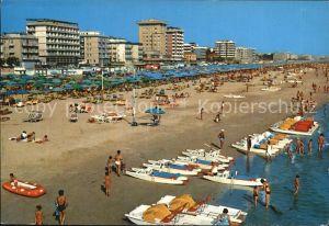 Miramare di Rimini  Panorama della spiaggia Strand Hotels Kat. Rimini