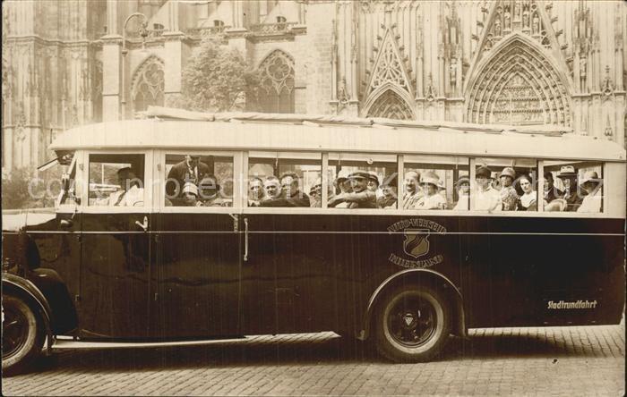 Koeln Rhein Stadtrundfahrt Bus Kat. Koeln