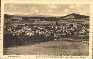 Ebersbach Sachsen Blick vom Schlechteberg ueber Neue Sorge und Klunst Kat. Ebersbach Sachsen