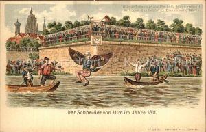 Ulm Donau Der Schneider von Ulm beim Abflug Kat. Ulm