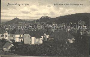 Blankenburg Harz Blick vom Hotel Eichenberg Kat. Blankenburg