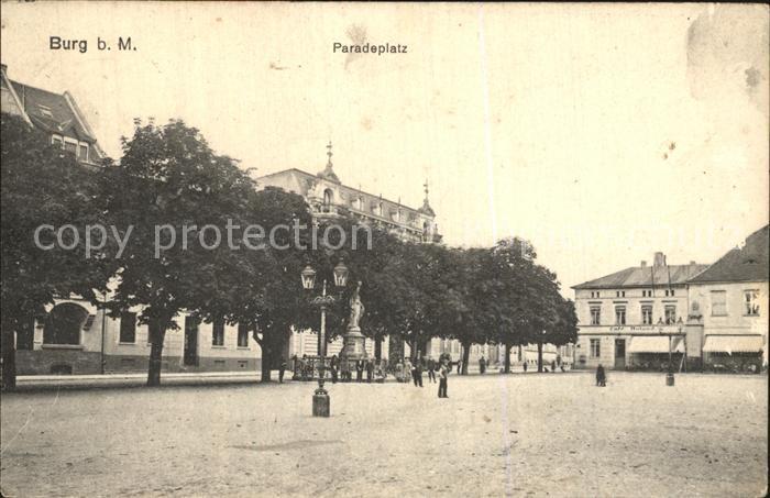de05945 Burg Magdeburg Paradeplatz Lazarett Stempel Kat. Burg
