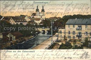 Donaueschingen Partie an der Brigach Hotel Kirche Kat. Donaueschingen