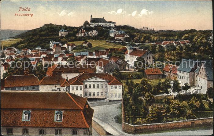 Fulda Ortsansicht mit Frauenberg Kloster Kat. Fulda