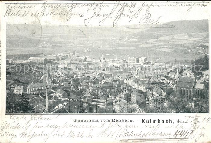 Kulmbach Panorama Blick vom Rehberg Kat. Kulmbach