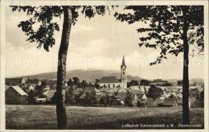Schwarzenbach Wald Ortsansicht mit Kirche Luftkurort Frankenwald Kat. Schwarzenbach a.Wald
