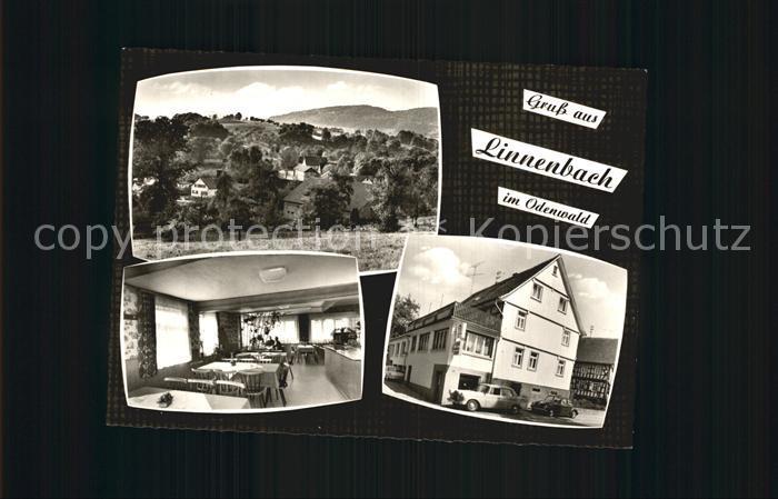 Linnenbach Panorama Odenwald Gasthaus Metzgerei Zum Hannes Kat. Fuerth