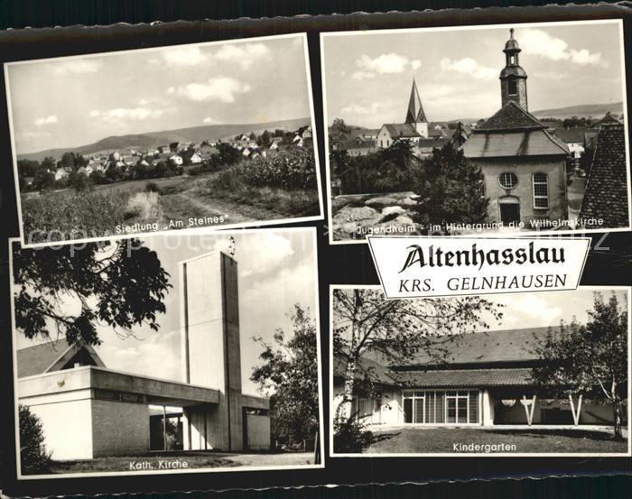 Altenhasslau Siedlung Am Steines Jugendheim Wilhelmskirche Kath Kirche Kindergarten Kat. Linsengericht 0