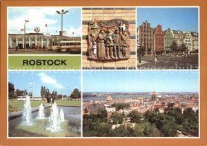 Rostock Mecklenburg Vorpommern Giebelhaus Kroepeliner Strasse Cafe Rostock Hotel Warnow Kat. Rostock