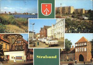 Stralsund Mecklenburg Vorpommern Hafen Leninplatz Kniepertor Kulturhistorisches Museum Kat. Stralsund