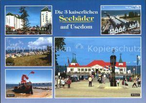 Heringsdorf Ostseebad Usedom Fliegeraufnahme Seebruecke Ahlbeck Bansin Kat. Heringsdorf