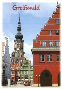 Greifswald Altstadt mit Kirche