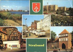 Stralsund Mecklenburg Vorpommern Hafen Leninplatz Friedrich Wolf Strasse Kniepertor Kulturhistorisches Museum Kat. Stralsund